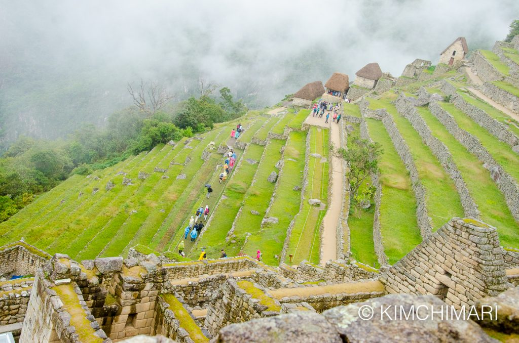 Terraces at Machu Picchu, Peru