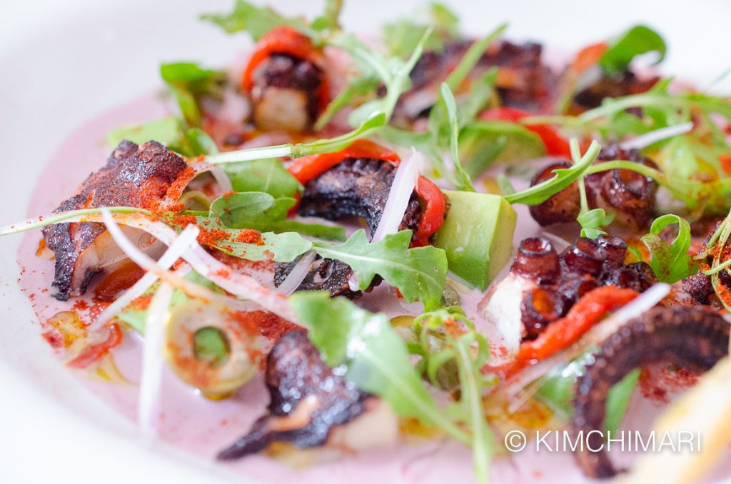 Pulpo Al Olivo - Grilled Octopus with Peruvian Purple Olives