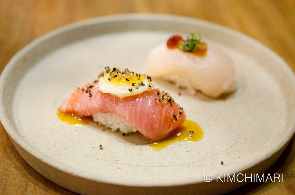 Nigiris - toro and scallop