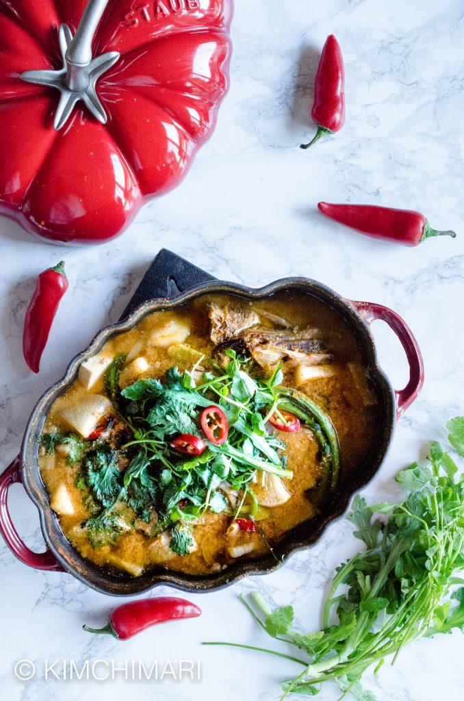 Spicy Alaska Pollock Stew with gochujang
