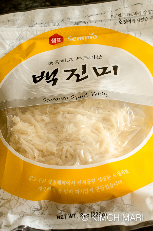 Dried squid for Ojingeochae Muchim