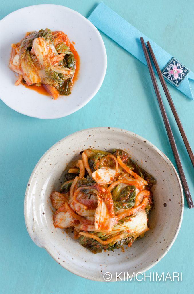 Simple Vegan Cabbage Kimchi