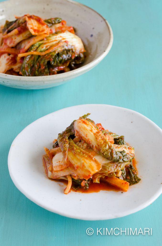 Temple Vegan Cabbage Kimchi with No garlic, No fish sauce, No green onions