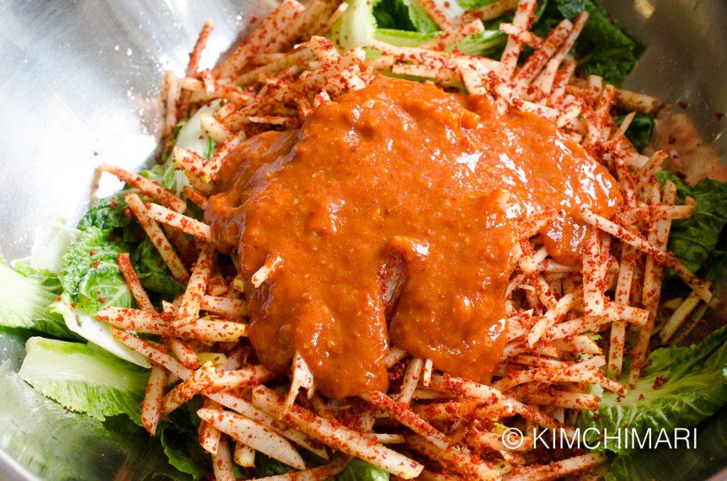 Vegan Kimchi radish seasoning paste