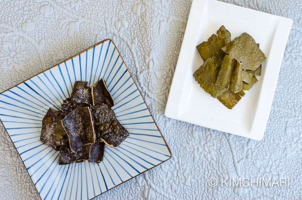 Dasima Twigak (fried kelp chips) - two kinds