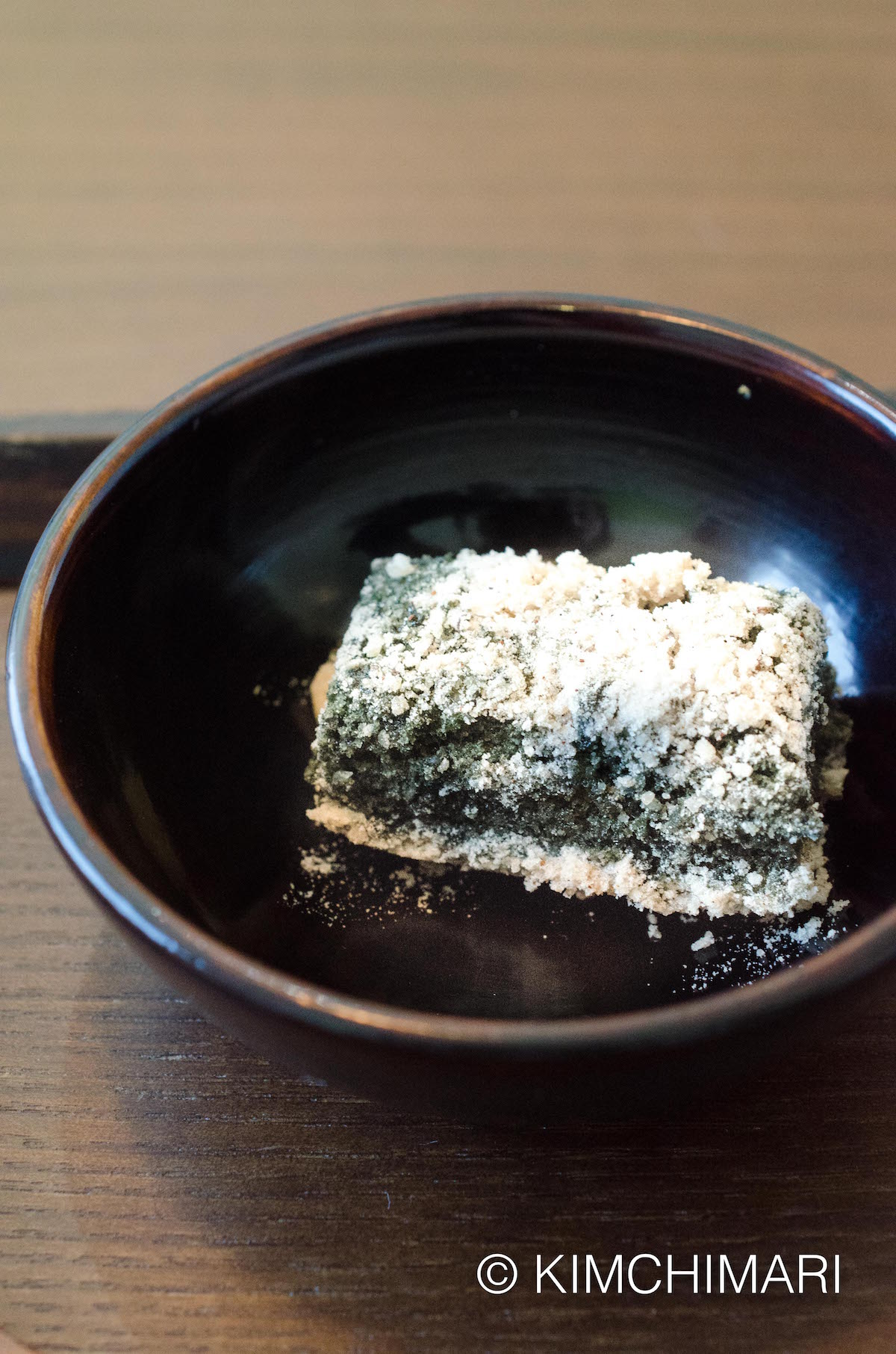 Korean Temple Food Dessert - Ssuk Tteok (mugwort rice cake)