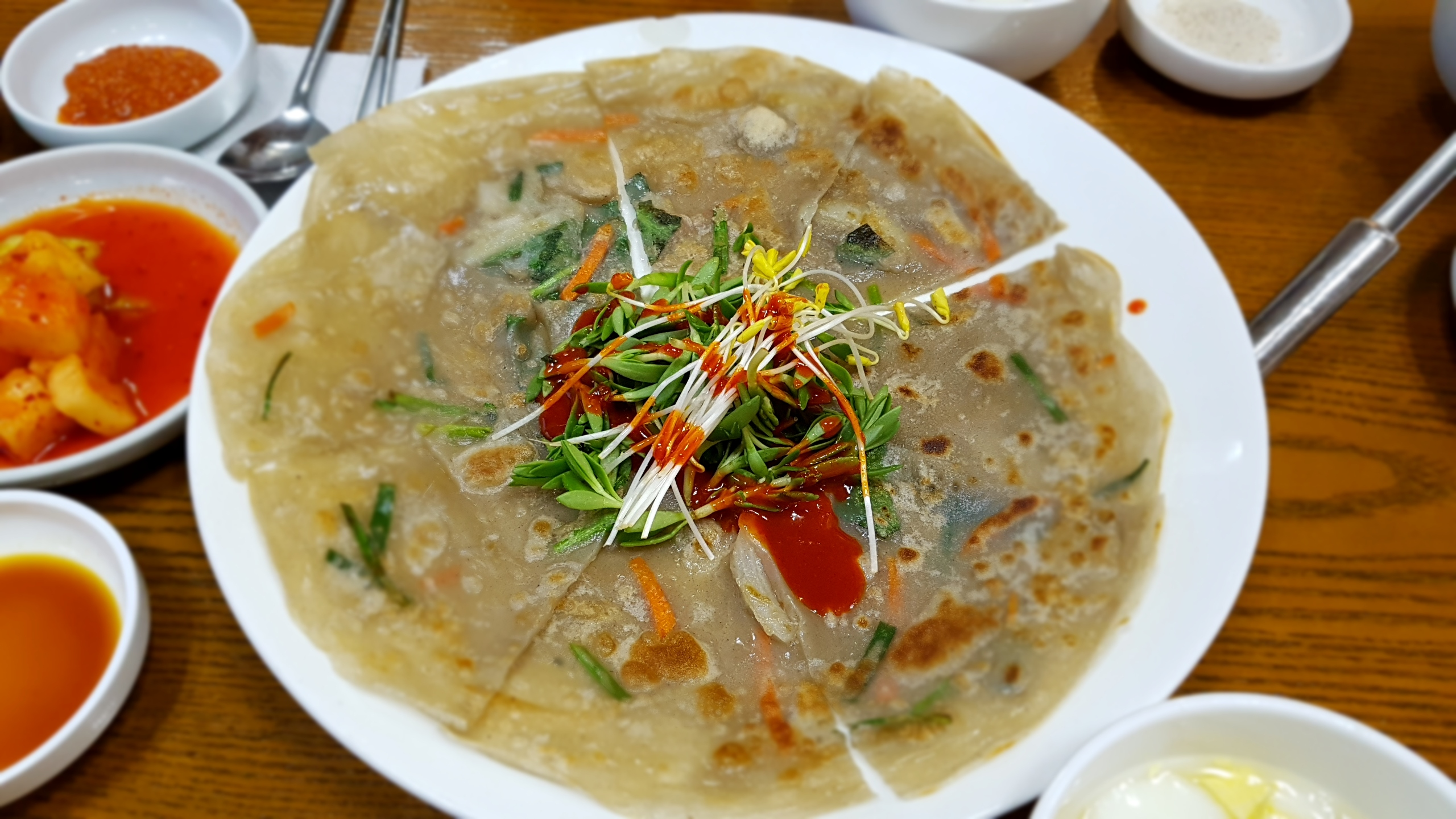 korean buckwheat pancake at Nurungji Baeksuk Seongbukdong