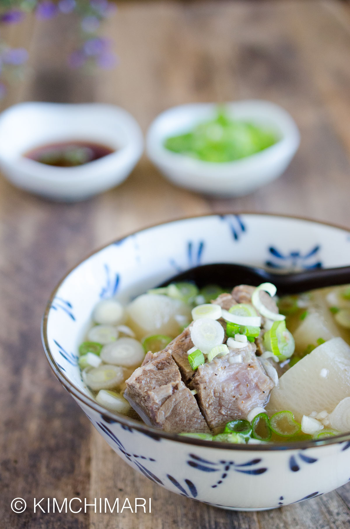 Galbitang (Korean Short Rib Soup) Instant Pot Version in Bowl