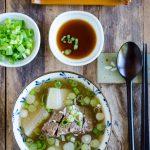Galbitang (Korean Short Rib Soup) Instant Pot Version - Serving Suggestion