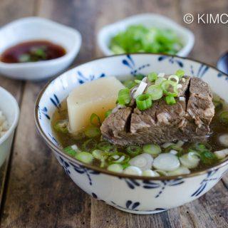 Korean Short Rib Soup Galbitang with Rice