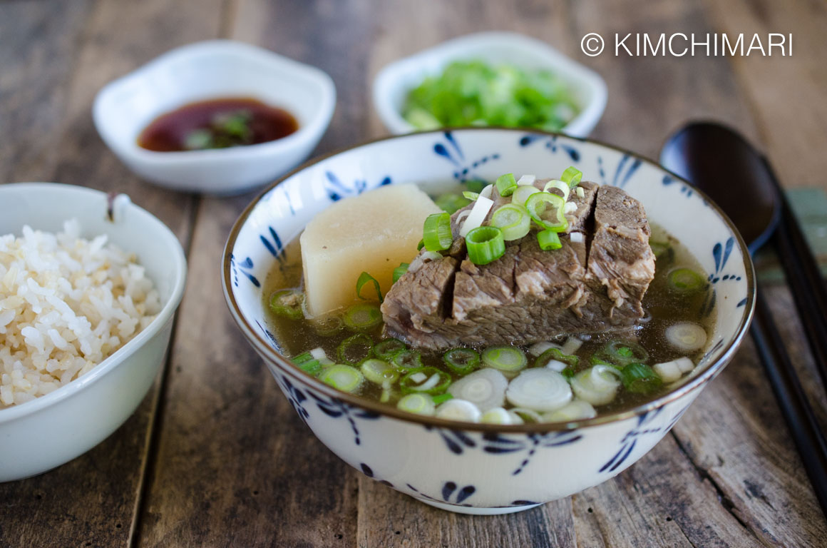 Korean Short Rib Soup Galbitang with Rice
