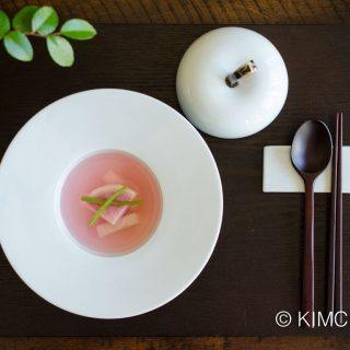 Water Kimchi (물김치 Mul Kimchi) with Watermelon Radish