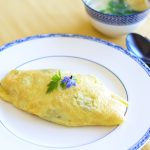 Omurice or Omelette Rice - Fried Rice wrapped in Egg