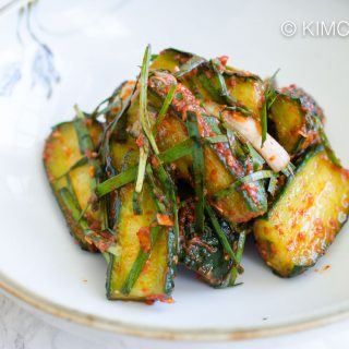 Cucumber Kimchi with Chives – Vegan