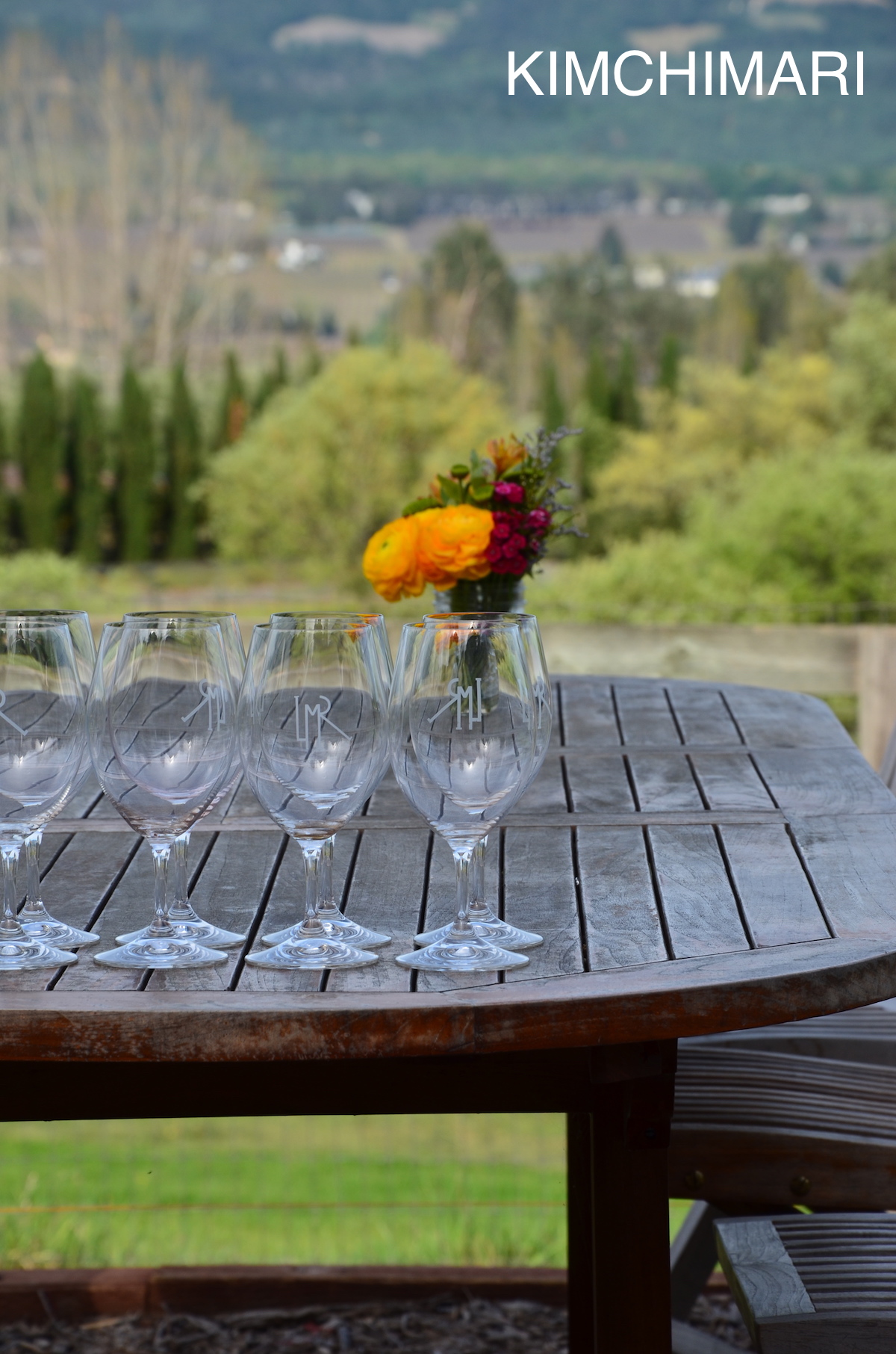 Wine tasting at Long Meadow Ranch, Napa
