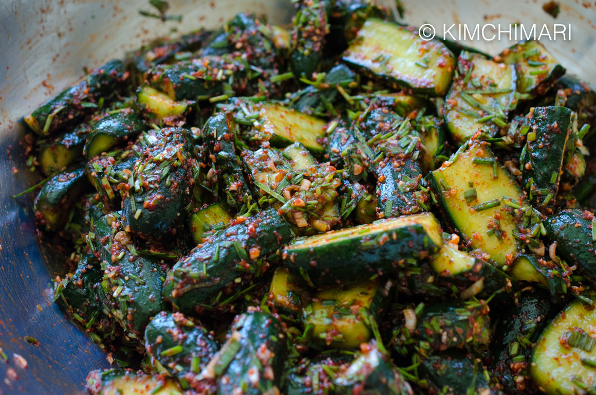 cucumber kimchi seasoned
