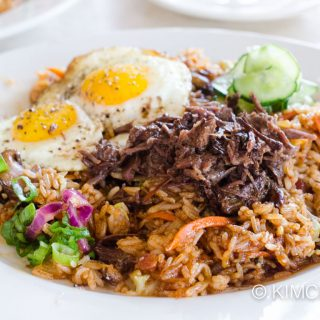 Bacon Kimchi Fried Rice at 8 Noodle Shop, Napa, CA