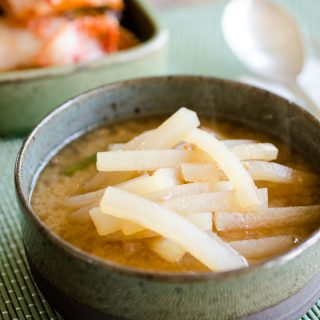 Radish Soup with Soybean Paste (Korean MuDoenjangGuk)