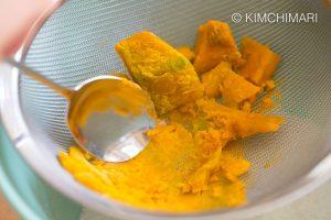Kabocha squash crushed for yellow songpyeon