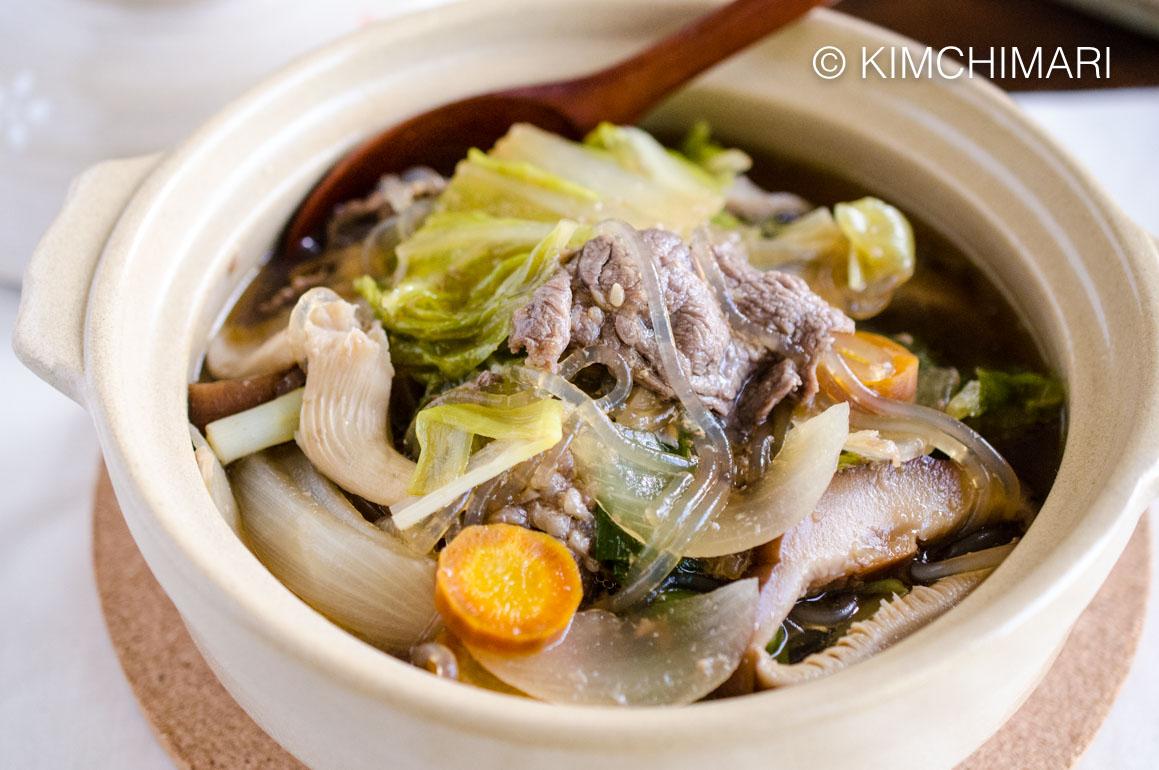 Bulgogi Hot Pot Jeongol Served in Clay Pot
