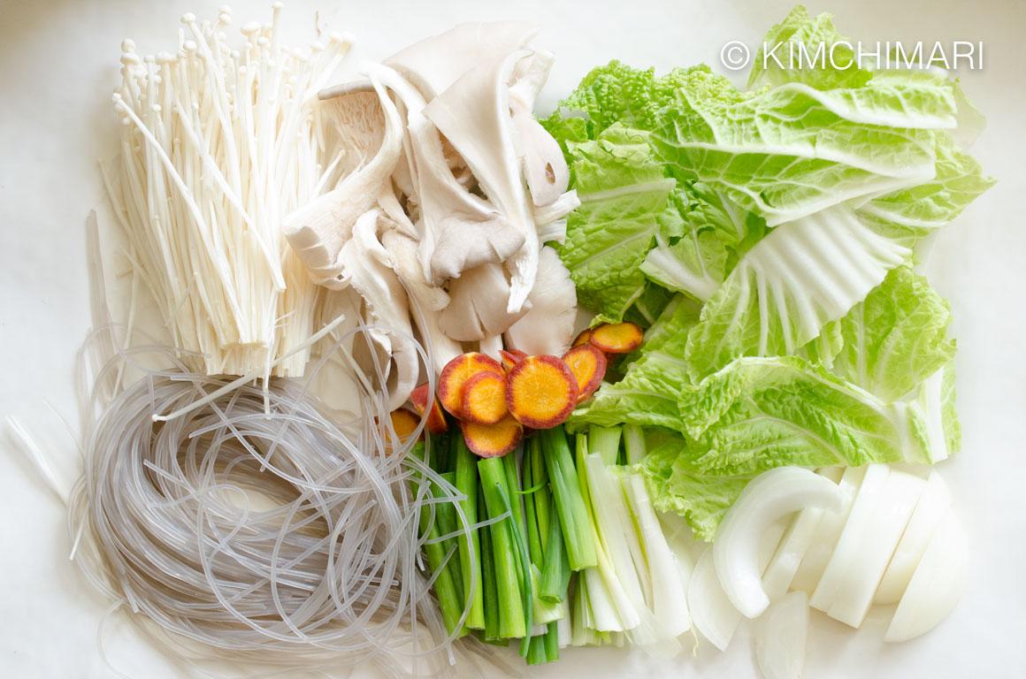 Bulgogi Hot Pot - Vegetable Ingredients