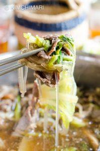 Bulgogi Hot Pot (Jeongol) Closeup