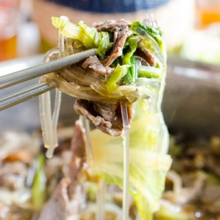 Bulgogi Hot Pot with Glass Noodles (Bulgogi Jeongol)