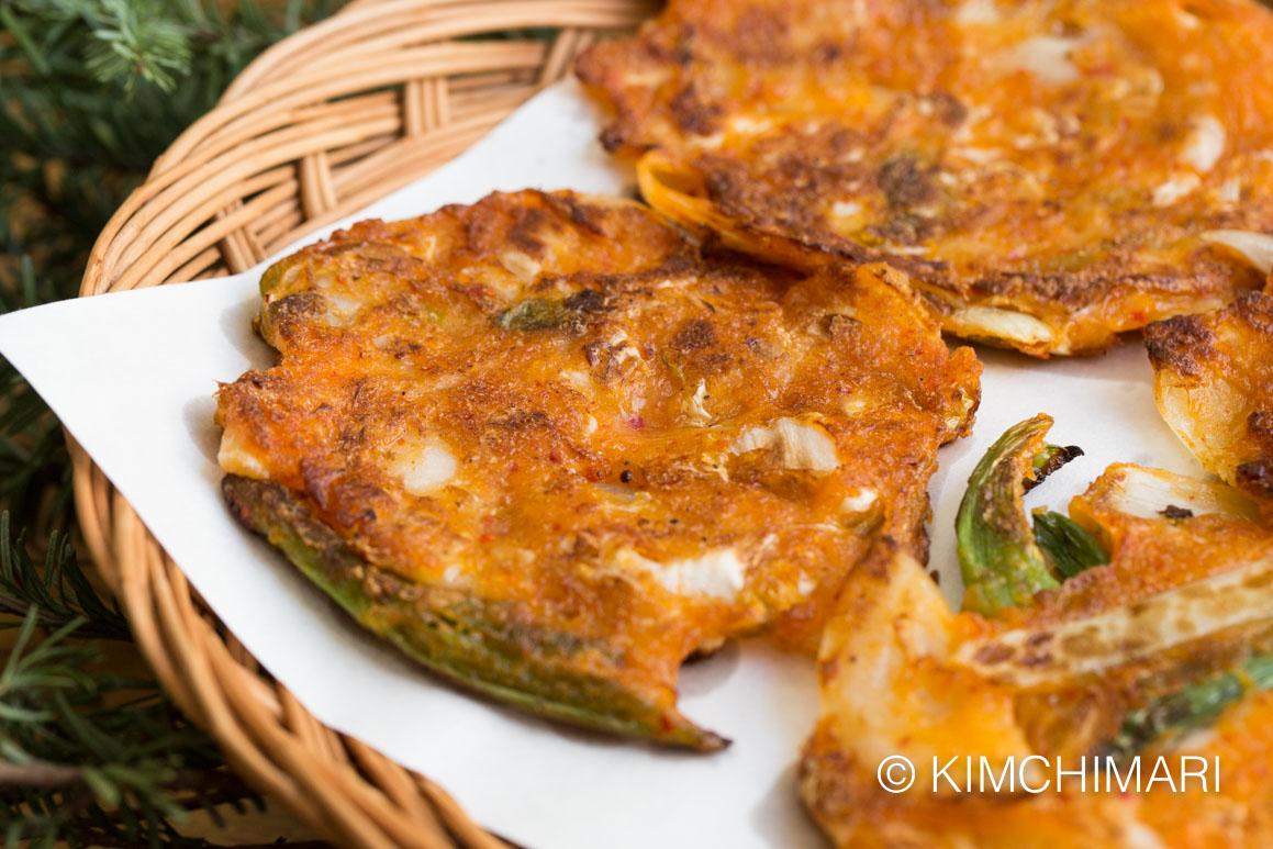 Kimchi Pancakes freshly made