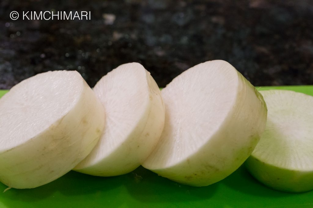 Radish Chunks for Korean Beef Cabbage Radish Soup