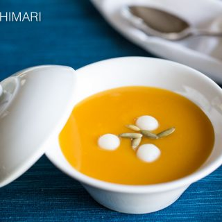 HobakJuk (Korean Pumpkin Porridge) made from Kabocha Squash