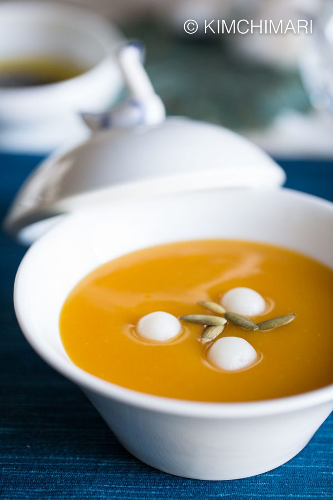 HobakJuk (호박죽 Korean Pumpkin Porridge)