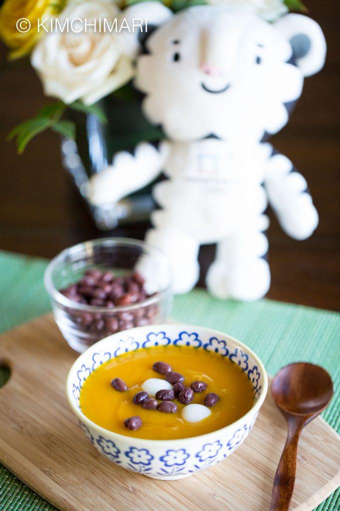 Hobakjuk Sweet Rice Balls with Azuki Red Bean