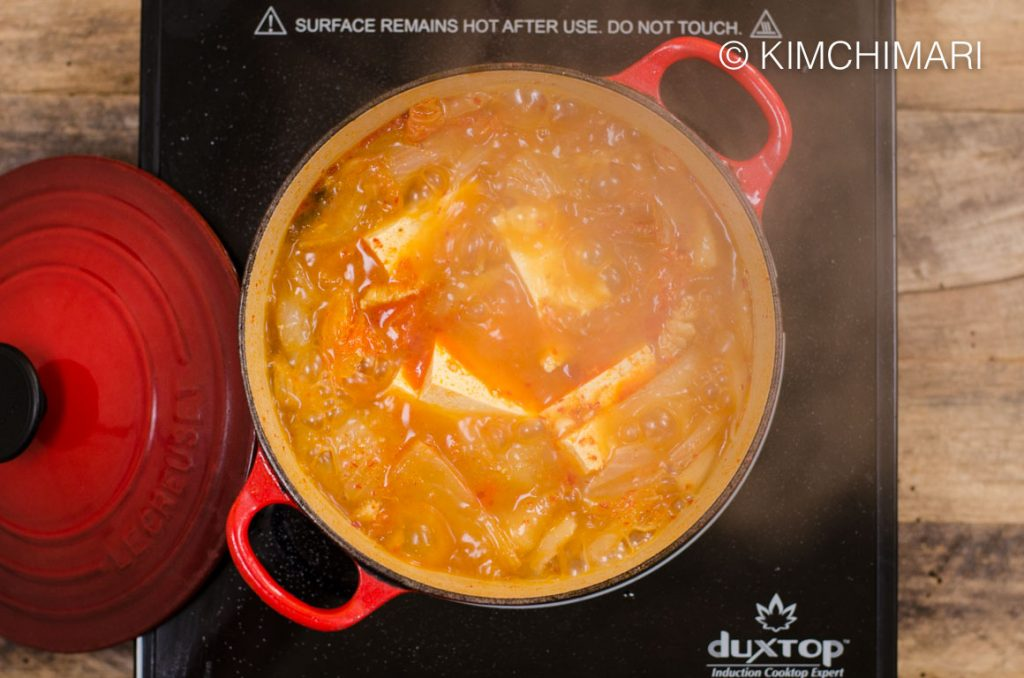 Kimchi Jjigae Boiling-Recipe with Kimchi that you can freeze