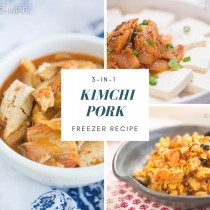 Recipe With Kimchi and Pork that you can use as base to make 3 different Kimchi recipes