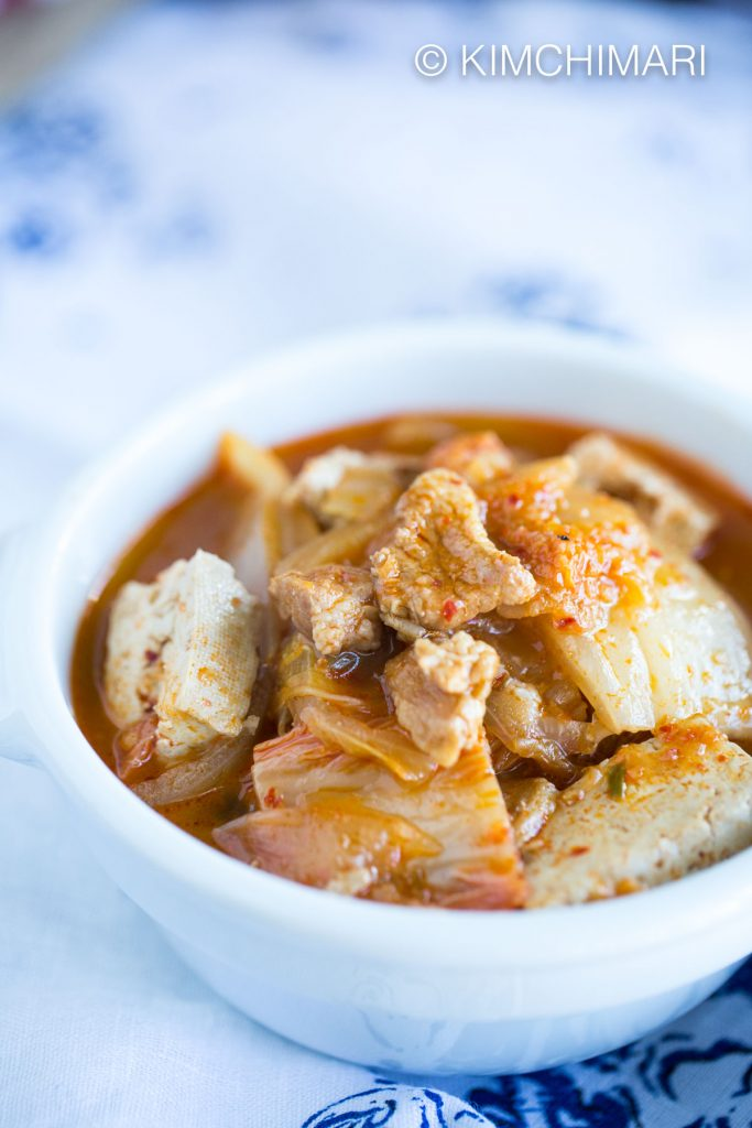 Recipe with Kimchi- Kimchi Jjigae with Pork Belly using 3-in-1 Kimchi Pork Freezer recipe
