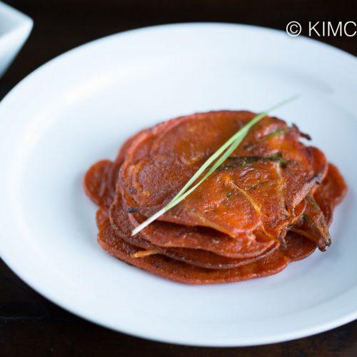 Gochujang Pancake with Chives (Korean Jangtteok)