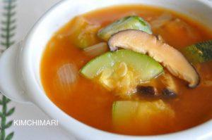 Meatless Spicy Zucchini Mushroom Stew