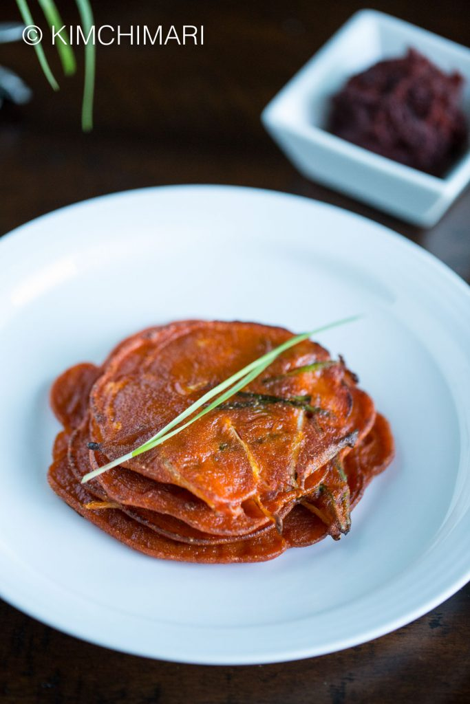 Gochujang Pancake or Jangtteok with Fresh Chives