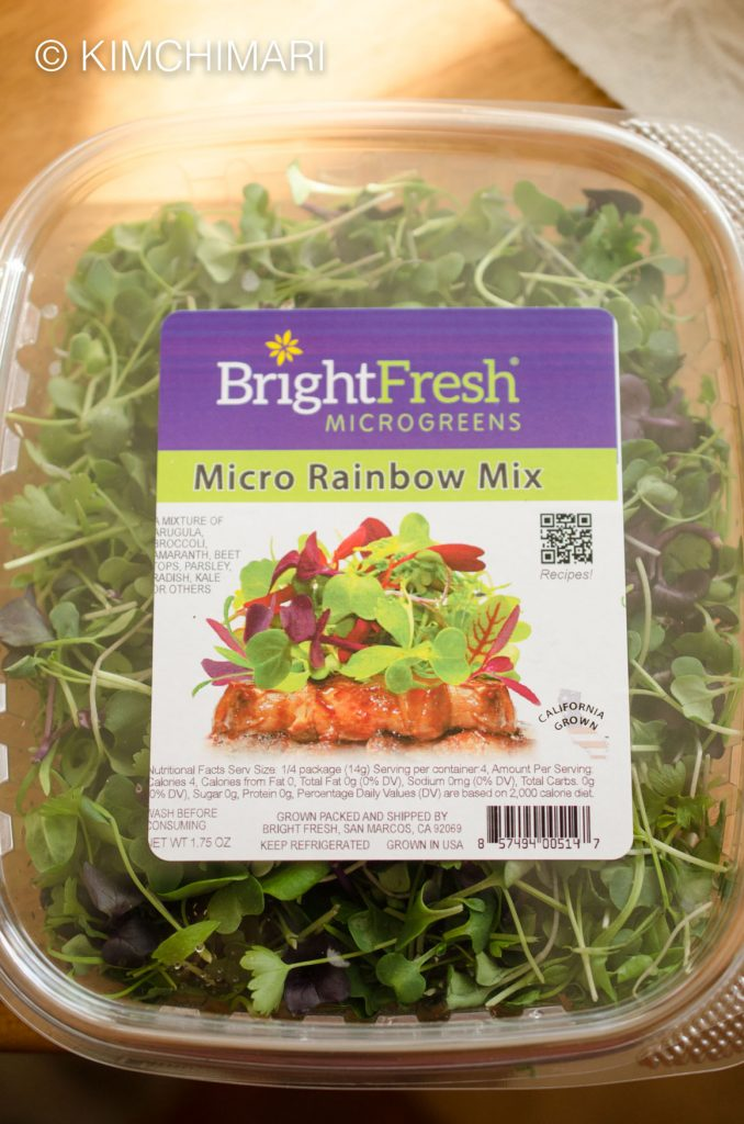 Micro Rainbox Mix greens for Tofu Salad