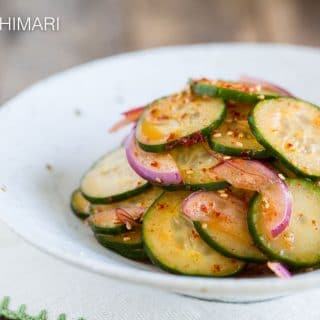 Quick Asian Cucumber Salad – Without Soy Sauce