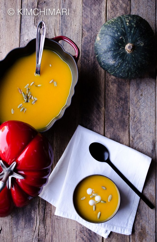 Healthy Korean Ingredients Pumpkin soup