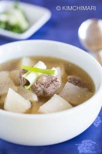 Beef and Radish Soup-Korean Seogogi Mu Guk