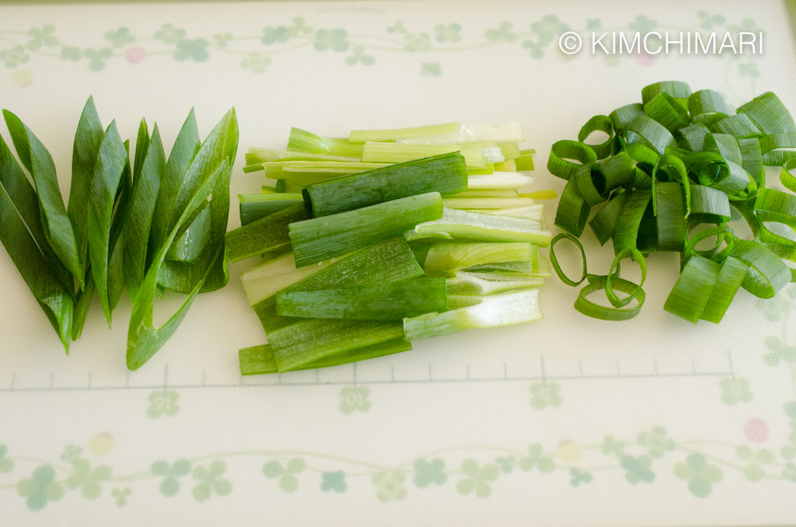 Green Onion slices for Korean Soups