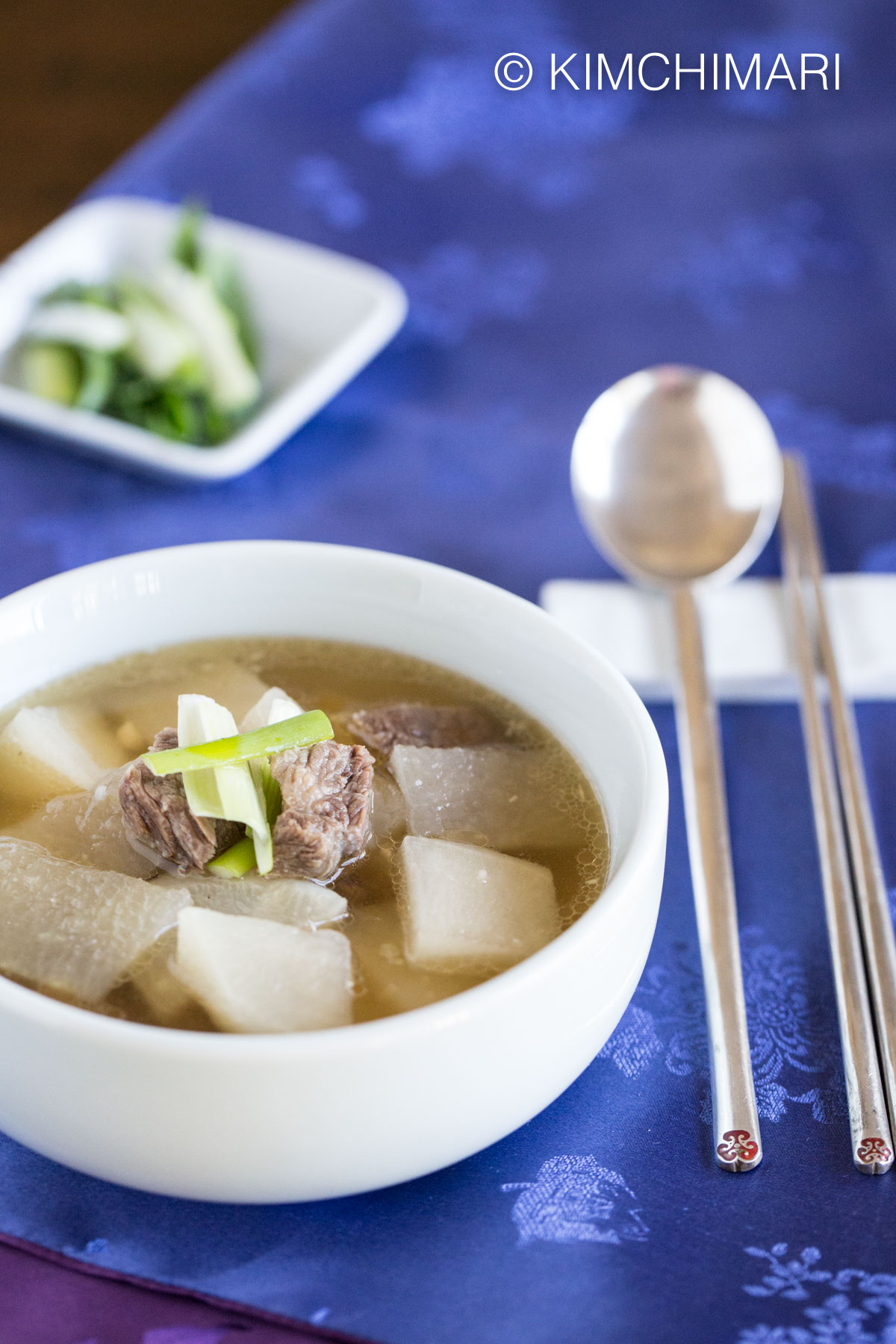 Korean Beef and Radish Soup (Mu Guk)