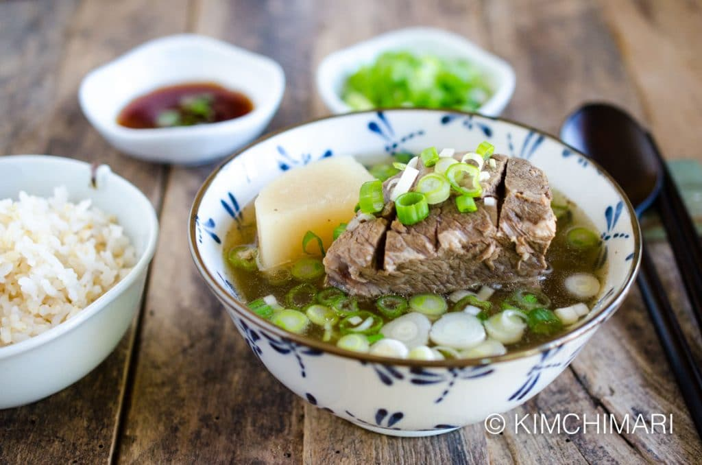 Korean Short Rib soup - Galbitang and Rice