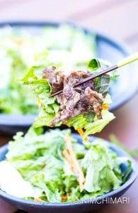 Korean Green Onion Salad with Grilled Beef