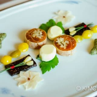 Korean Royal Cuisine Appetizer (gingko, persimmon, dried octopus, chestnut and more)