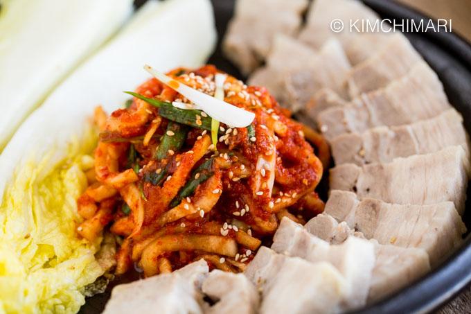 Bossam - Korean Pork Belly Wrap