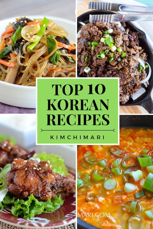 Top 10 Most Popular Korean Recipes - collage image