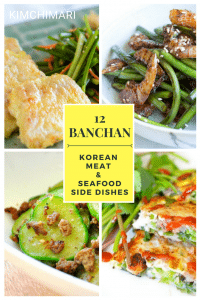 12 Meat and Seafood Banchan (Korean side dishes)